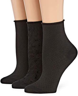 Asstd National Brand Berkshire Non Binding 3 Pk Ankle Socks - Womens