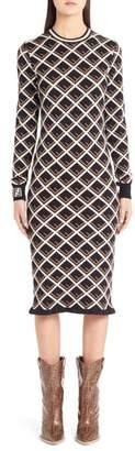Fendi Logo Pattern Midi Dress