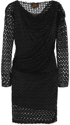 Vivienne Westwood Toga Draped Lace Dress - Black