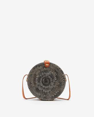 Express Street Level Circle Woven Crossbody Bag