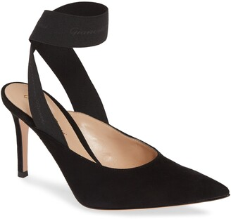 Gianvito Rossi Ankle Wrap Pointy Toe Pump
