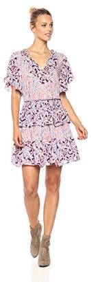 Ella Moon Women's Skyler Short Flutter Sleeve Oversized Fit and Flare Dress