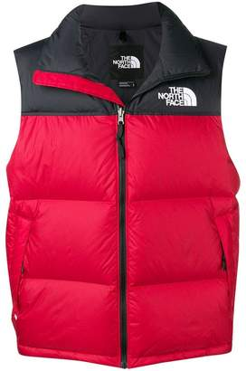 The North Face colour block padded gilet