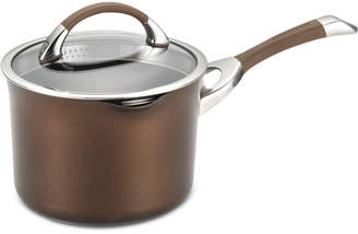 Circulon Symmetry Chocolate Hard-Anodized Non-Stick 3.5-Qt. Straining Saucepan & Lid