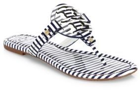 Tory Burch Miller Striped Leather Sandals $195 thestylecure.com