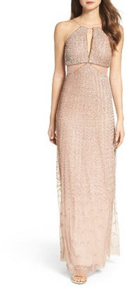 Women's Adrianna Papell Embellished Cutout Gown $369 thestylecure.com