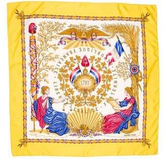 Hermes 1789 Liberté Égalité Fraternité Silk Scarf