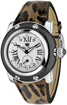 Glam Rock Women's Summer Time 40mm Leather Band Swiss Quartz Watch Gr40050