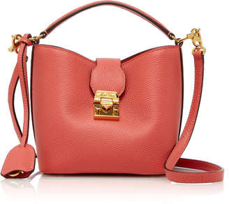 Mark Cross Mini Murphy Pebbled Leather Bucket Bag