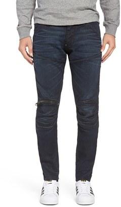 G-Star Raw 5620 Skinny Fit Moto Jeans (Dark Aged Black) $190 thestylecure.com