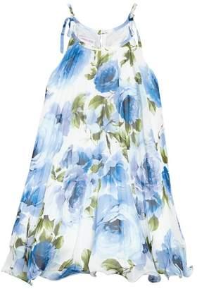 Iris & Ivy Crystal Pleat Floral Dress (Toddler Girls & Little Girls)