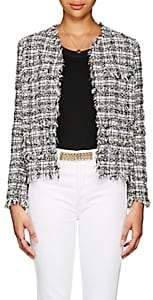 Barneys New York Women's Cotton-Blend Tweed Jacket-Black