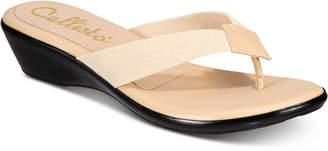 Callisto Yazmine Thong Wedge Sandals, Created for Macy's Women's Shoes