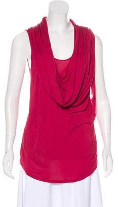 Alexander McQueen Scarf-Accented Sleeveless Top