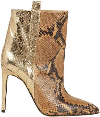 Paris Texas Two Tone Snakeskin Booties