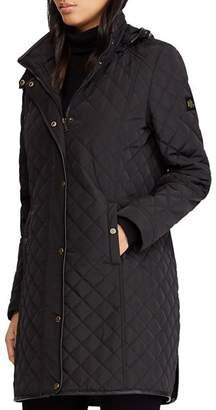 Ralph Lauren Hooded Diamond-Quilted Jacket