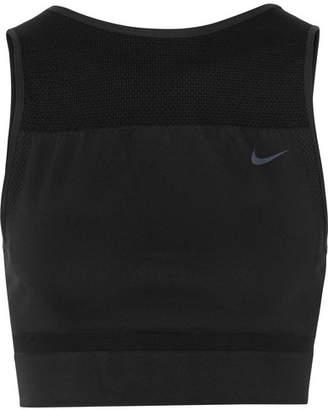 Nike Cropped Stretch Dri-fit Tank - Black