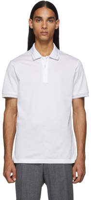 Salvatore Ferragamo White Logo Polo