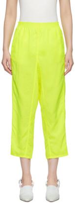 MM6 MAISON MARGIELA Yellow Woven Lounge Pants