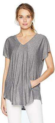 Jones New York Women's V Neck with Shirttail Hem