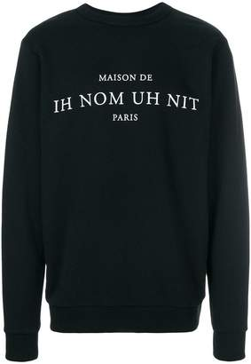 Ih Nom Uh Nit printed text sweatshirt