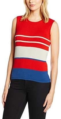 Benetton Women's Stripe Knit Vest Top,Large
