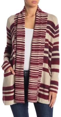 Lucky Brand Multi Stripe Knit Cardigan