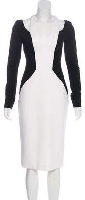 Cushnie et Ochs Long Sleeve Midi Dress
