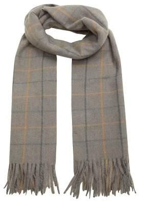 MANGO Striped knit scarf