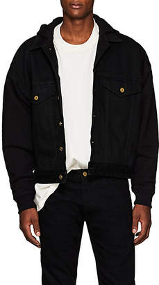 Fear Of God Men's Denim & Terry Trucker Jacket - Black