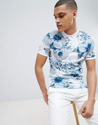 Selected Polo Shirt With All Over Print