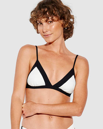 Seafolly Pop Block Fixed Tri Bra Bikini Top