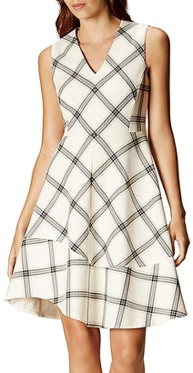 KAREN MILLEN Check Print Dress $380 thestylecure.com