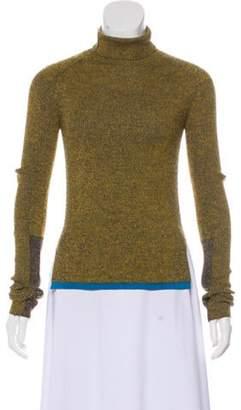 Celine Wool-Blend Knit Turtleneck wool Wool-Blend Knit Turtleneck