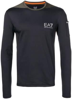 Emporio Armani Ea7 longsleeved logo T-shirt