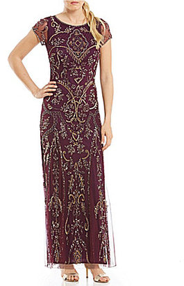 Pisarro Nights Cap Sleeve Beaded Gown $228 thestylecure.com