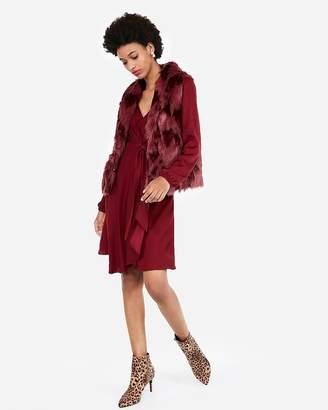Express Sculpted Faux Fur Vest