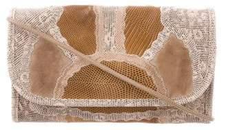 Carlos Falchi Lizard Skin Crossbody Bag