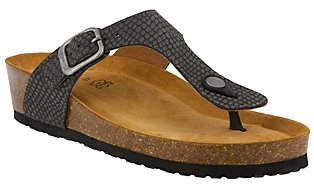 Spring Step Leather Thong Sandals - Estelle