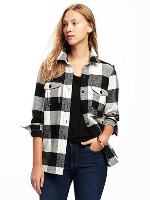 Classic Flannel Shirt Jacket for Women $34.94 thestylecure.com