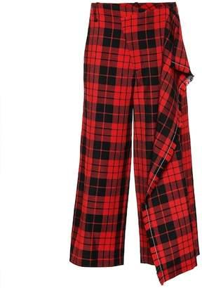 Monse Plaid wool pants