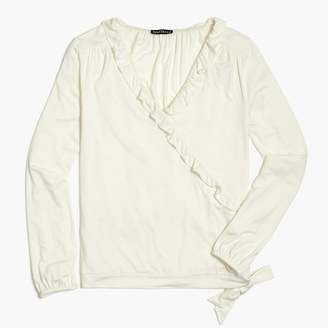 J.Crew Ruffle-trim wrap top