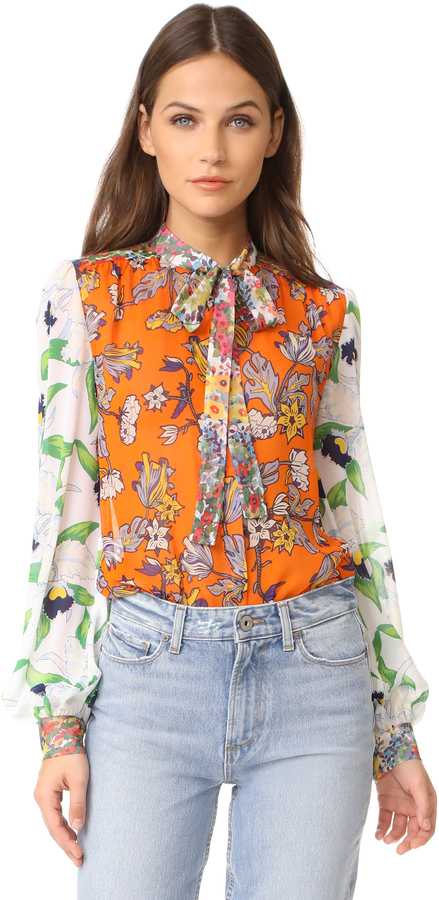 Tory Burch Tory Burch Kia Bow Blouse
