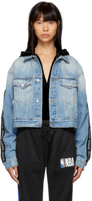 Marcelo Burlon County of Milan Blue Vintage County Jacket