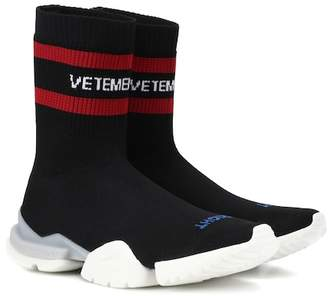 Vetements x Reebok stretch-knit sneakers