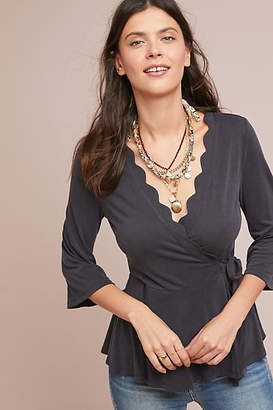Eri + Ali Scalloped Wrap Top