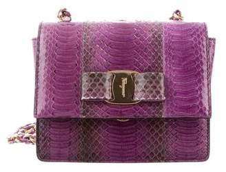 Salvatore Ferragamo Python Mini Ginny Crossbody Bag