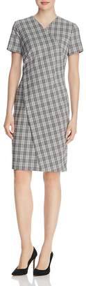 BOSS Dirmala Checked Short-Sleeve Dress