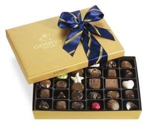 Godiva Chocolatier Assorted Chocolate Gold Gift Box, Striped Tie Ribbon, 36 pc.