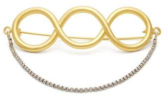 J.W.Anderson Twisted Pin Brooch - Womens - Gold
